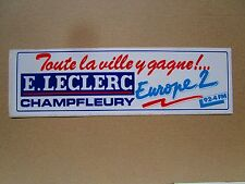 AUTOCOLLANT STICKER AUFKLEBER RADIO EUROPE 2 E LECLERC VILLE CHAMPFLEURY