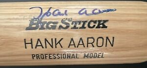 MLB Baseball Hall of Famer Hank Aaron Signed Adirondack Bat Autographed JSA LOA