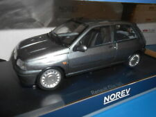 NV185234 by NOREV RENAULT CLIO 1.8 16S 1991 GRIS TUNGSTENE 1:18