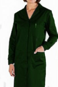 LADIES LAB / TRADE COAT / OVERALL -  Stud front -  Colours  - STUD CUFFS - wc104