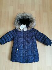 Next Girls Hooded Padded Coat parka Shower Resistant Size 3 years
