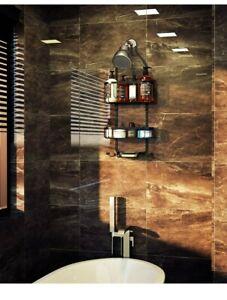 Kadolina Bathroom Hanging Shower Organizer, over Head Shower Caddy Basket with H
