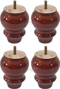 NEW BROWN Wooden Feet / Leg for furniture,sofa, chair,footstool ,Table,Cabinets