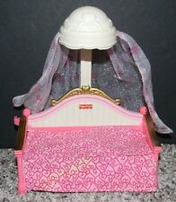 Mattel 2005 Fisher Price Loving Family Twin Time Dollhouse Pink Canopy Day Bed