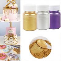 Edible Flash Glitter Golden Silver Powder For Decorating Cake Biscuit Baking GE