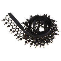 1 Yard Beads Tassel Fringe Trim Ribbon for Stage Costume Clothing Decoration
