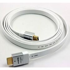 2M High Speed SONY 1.4v Flat White HDMI Cable Cord 3D HD PS4 for XBOX 1080P TV