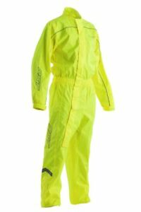 RST Mens Hi-Viz  Waterproof Motorcycle One Piece Rain Suit Fluo