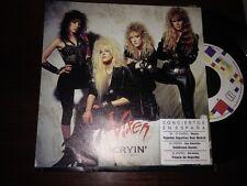 "VIXEN - SPANISH 7"" SINGLE SPAIN CRYIN' HARD ROCK + TOUR STICKER"