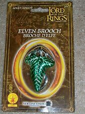 LORD OF THE RINGS LOTR GREEN LEAF CLASP BROOCH PIN COSTUME JEWELRY RU2252