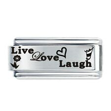 LIVE Love Laugh PICS DAISY Charm JSC accoppiamenti Classic Taglia Italiana Charms Bracciale