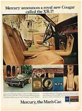 Vintage 1967 Magazine Ad Mercury Announces a Royal New Cougar Called The XR-7