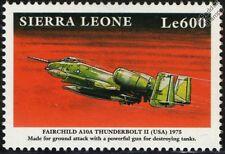Fairchild Republic A-10 THUNDERBOLT II Aircraft Mint Stamp (1999 Sierra Leone)