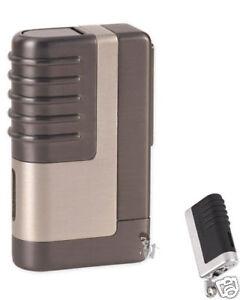 Lotus 41 4140 Light Gunmetal Cigar Lighter w/ 8mm Punch
