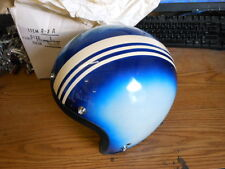 NOS NEW Shoei Vintage Open Face Helmet Large D-3A Blue Pearl w Stripe 1968 Snell