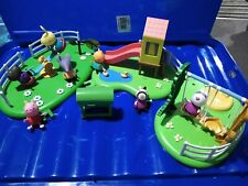 Peppa Pig playground set, seesaw slide with playhouse swing pond BBQ figures