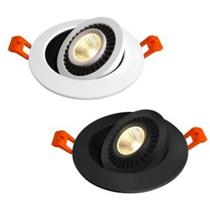 QLTEG Dimmable LED Downlight 5w 7w 10w  Recessed Ceiling Lamp 360 Degree