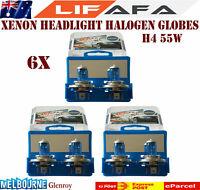 12V H4 55W Super Headlight Xenon White 5000k Halogen Car Head Light Lamp Bulbs L