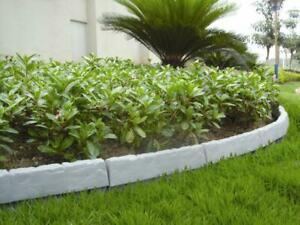 Rasenkante Palisanden Beeteinfassung Zaun Steinoptik Grau 34 x 14,5cm 4er Set