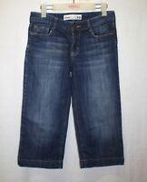 Just Jeans Capri Jeans Size 10 Mid Rise Medium Wash Stretch Denim