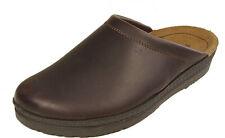 ROHDE Schuhe Pantoletten Hauspantoffeln Latschen braun echt Leder Fußbett NEU