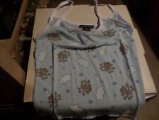 Girl's Lovely Girl top Light blue with Monkey theme 100% cotton Size S,M, &XL
