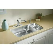 Sterling McAllister UCL3322R Undercounter High/Low Stainless Steel Kitchen Sink