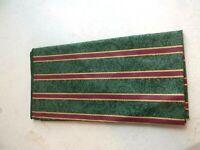 Longaberger Holiday Imperial Stripe Fabric Napkin 1 NEW