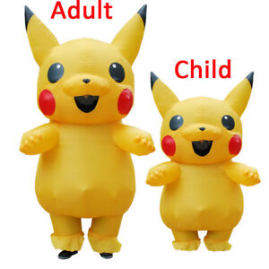 Inflatable Pikachu Cosplay Halloween Costume Cosplay Fancy Dress up Costumes