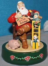 Coca-Cola, Coke Vintage Ertl Figurine Bank - Santa in A Chair with Elf & Toys
