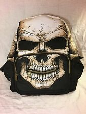 MOJO BACKPACK BLACKLIGHT SKELETON SKULL SHOULDER BOOK BAG HALLOWEEN GIANT ZIPPER