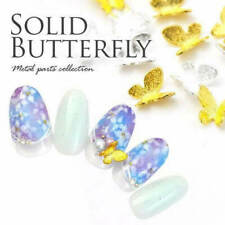 10/20Pcs New Nail Art 3D L Gold/Silver/Blak Alloy Metal Matte Butterfly DIY Deco