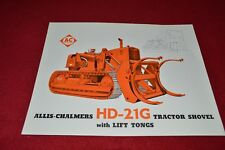Allis Chalmers HD-21G Crawler Tractor Loader Dealers Brochure YABE14