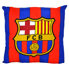 FC BARCELONA  SQUARE CREST CUSHION PILLOW BEDROOM SOFA CHAIR NEW GIFT XMAS