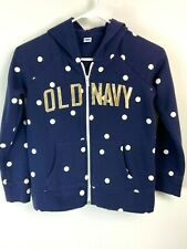 Old Navy Youth Size L (10-12) Unisex Blue Long Sleeve Hoodie Jacket