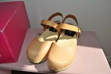 Swedish Hasbeens Covered low Nature clogs size 3 (EU 36)BNIB
