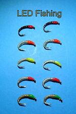 10 X EPOXY OKEY DOKEY/MAGGOT BUZZER FISHING FLIES SIZE 12 BY AQUASTRONG (097)