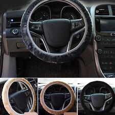 Warm Black Plush Steering Wheel Cover Winter Furry Fluffy Soft Plush Car 4 Color