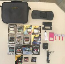ATARI LYNX CONSOLE BUNDLE with Case, Power Pack, 15 Games, Accessories