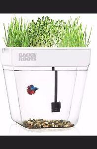 Hydroponic Fish Tank Water Garden That Grows Food Premium Acrylic Indoor Planter