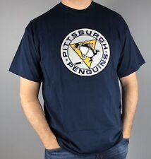 Pittsburgh Penguins T-Shirt Navy Blue Vintage Tek Patch
