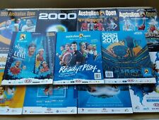 11x Australian Open Official Programs 1999 2000 2004 2005 2007-2011 2013 2014 VG