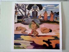 Paul Gauguin print detail Mahana No Atua 1894 33x33cm printed in France