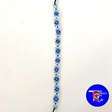 Bali Bead Colourful Flower Anklet Bracelet Hippy Boho Funky Tie On Cord Anklets