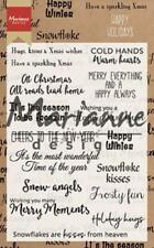 Marianne Design Clear Cling Stamps - Happy Holidays CS1009