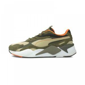 PUMA WOMENS MENS Lifestyle Shoes RS-X CAMO SNEAKERS 375558 02 Khaki/Burnt Olive