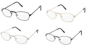 Reading Glasses Mens Eyewear Metal Frame Affordable J357 +1.25 to +4.00 Strength