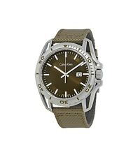 Calvin Klein  Earth Green Dial Men's Nylon Watch