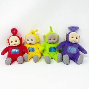 Vtg Teletubbies Eden Plush Dolls Po Laa Laa Dipsy Tinky Winky Stuffed Lot 4 1998