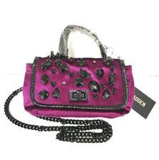 Steve Madden Women's Purple Magenta Velvet Shade Valera Mini Crossbody Bag Purse
